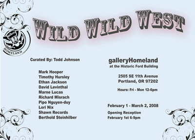 Wild Wild West at Gallery Homeland