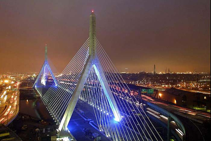 Hollywood helicopters descend upon zakim bridge the blog for Best city to leave in usa