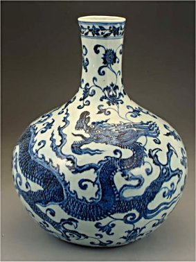 Changua Mark, Ming dynasty vase - Antique Chinese porcelain and