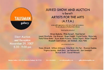 AFTA Benefit at Talisman Gallery